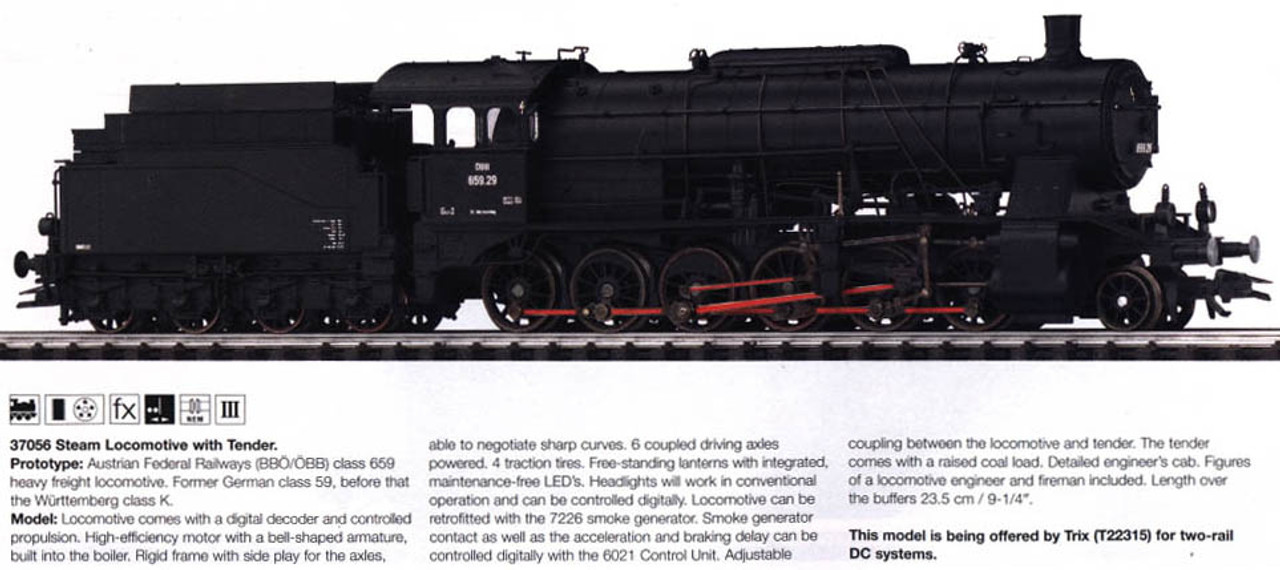 M37056  2004Q2 Digital Steam Locomotive with Tender class 659 BBåÉ/åÉBB (L)