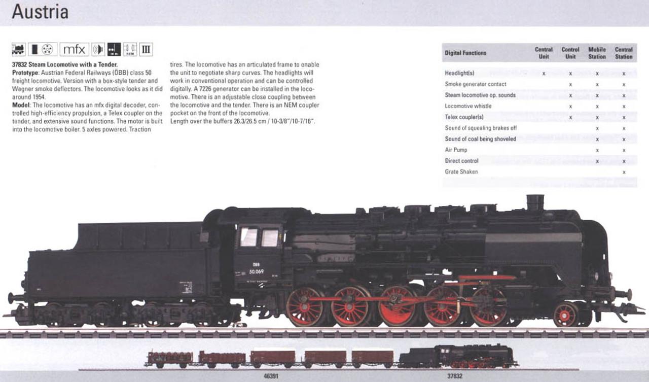 M37832  2010 Qtr.1 Digital åÉBB class 50 Steam Locomotive w/ Tender with Sound