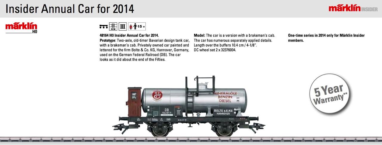 M48164  2014 HO Insider Car - Limited