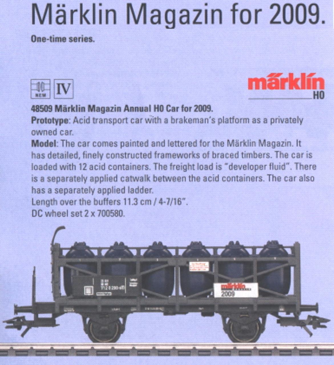 M48509  2009 H0 Må_rklin Magazin Car (L) - Summer Announcement - Discontinued