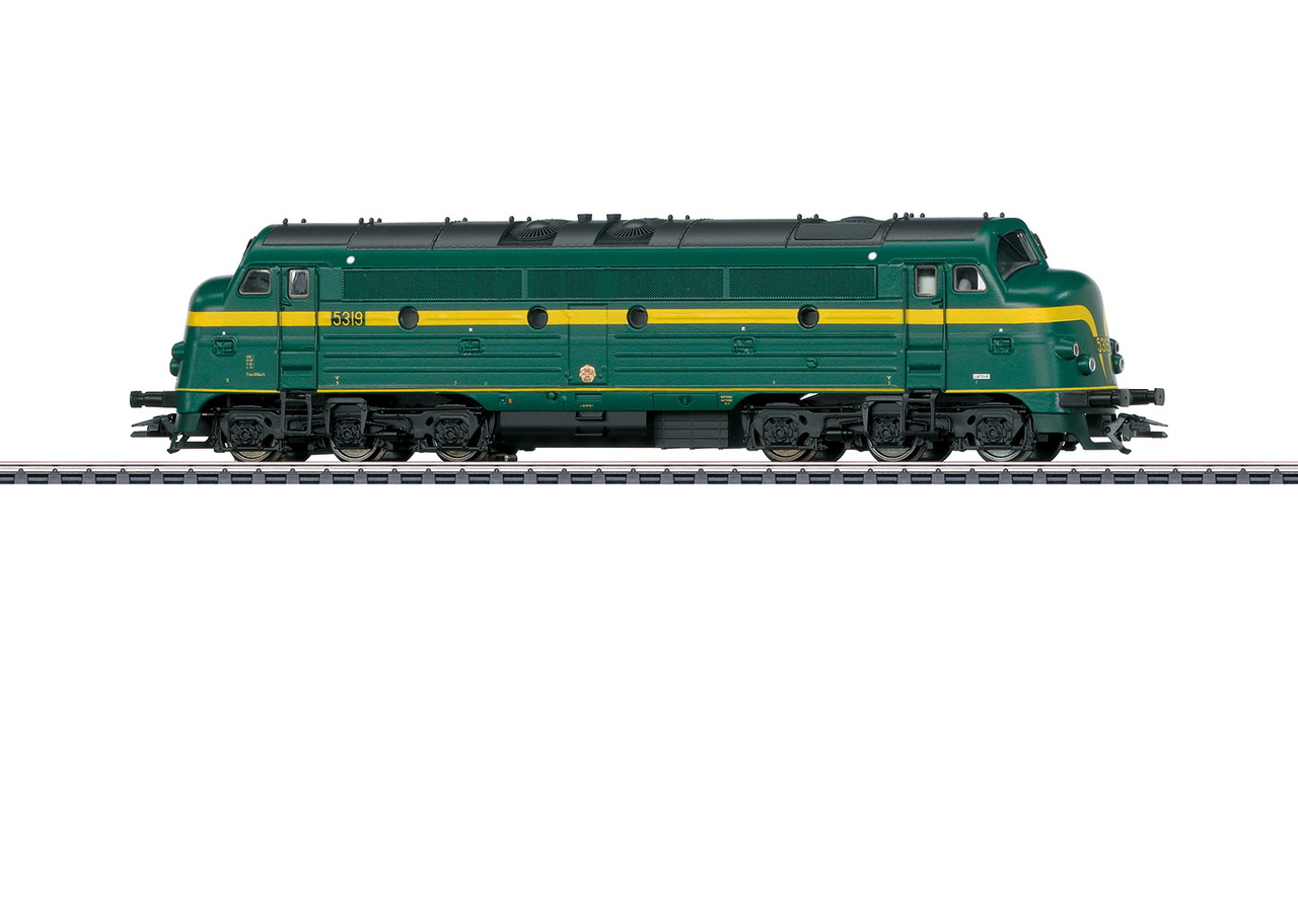 39678 NOHAB Class 53 Diesel - 3-Rail - Sound and Digital -- Belgian State Railways SNCB-NMBS 5319 (Era IV, green, yellow)