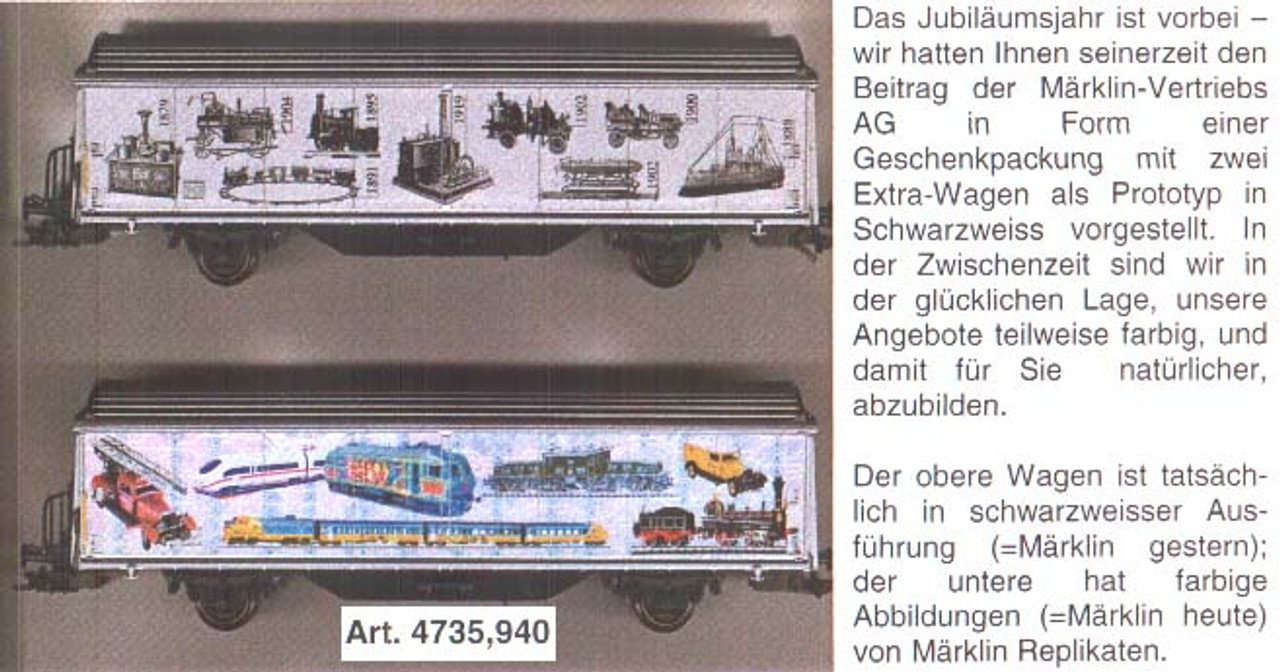M4735.940  Må_rklin 140th Anniversary HO Swiss Roll-top Car - MSI