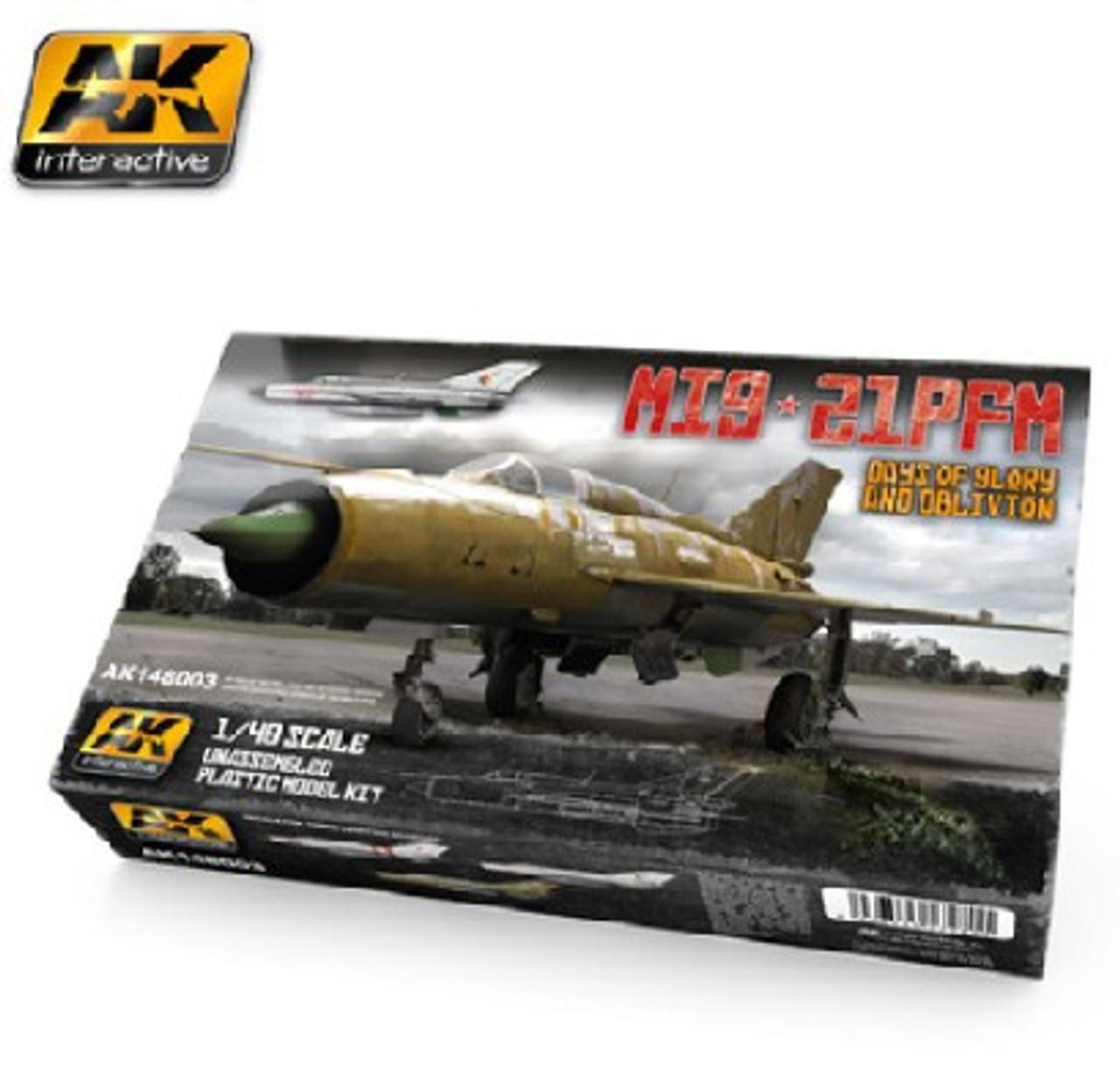 1/48 MiG21PFM Days of Glory & Oblivion Fighter (Plastic Kit)