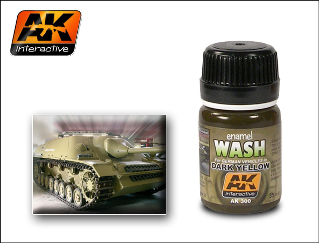 Dark Yellow Wash Enamel Paint 35ml Bottle