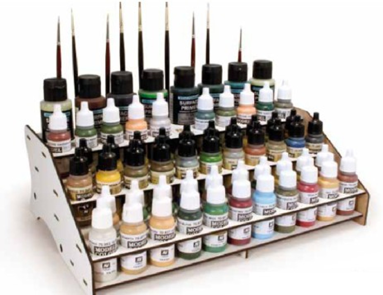 Front Module Paint Display Stand (Holds 60 Bottles & Brushes)