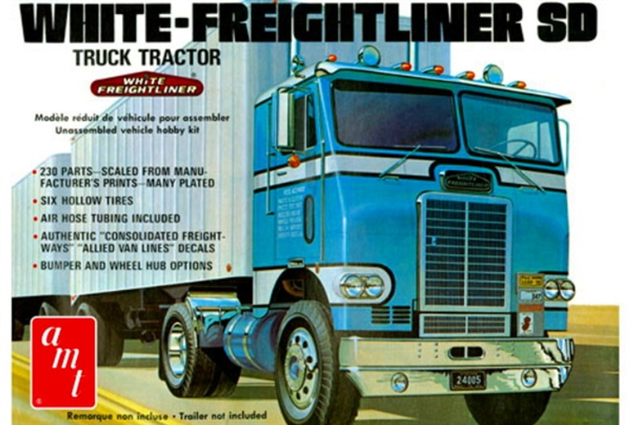 AMT1004  White Freightliner Single Drive Tractor