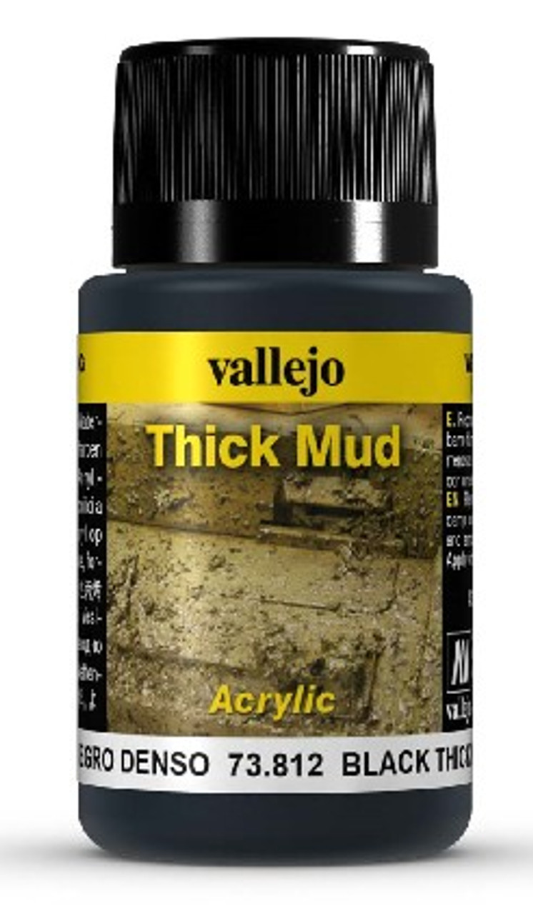 40ml Bottle Black Thick Mud Weathering Effect