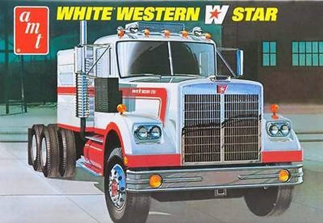 AMT-724  1/25 White Western Star Semi Tractor Cab w/Sleeper