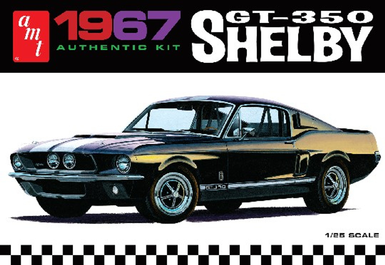AMT-800  1/25 1967 Shelby GT350 Car (White)