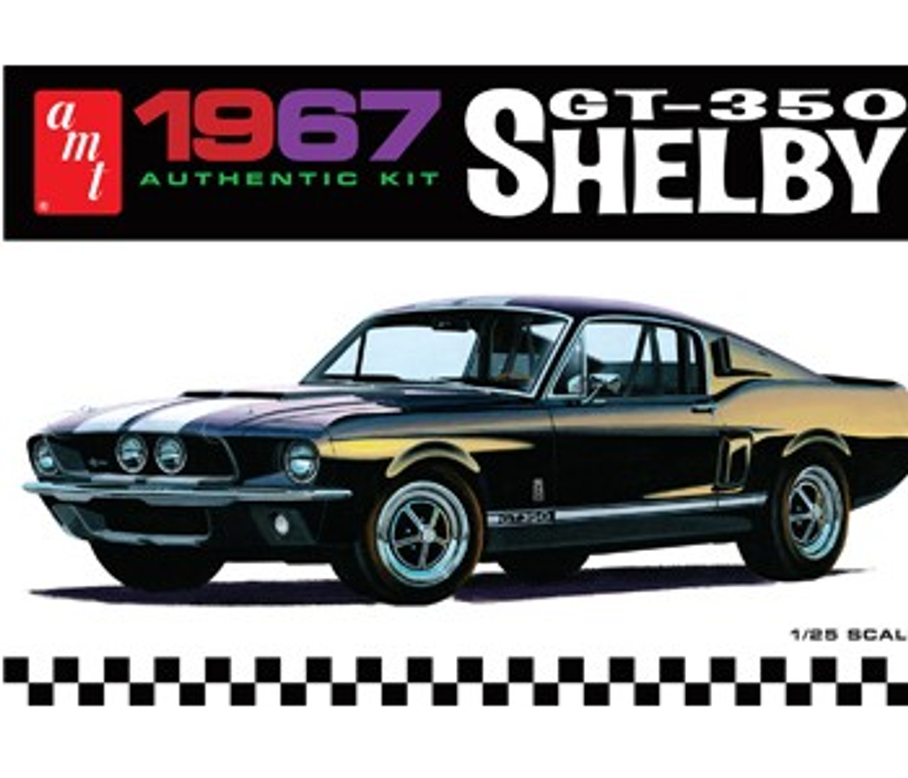AMT-834  1/25 1967 Shelby GT350 Car (Black)