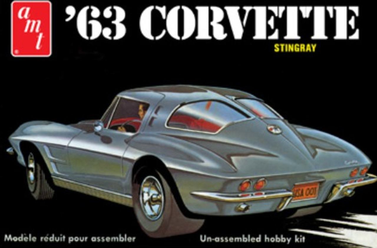 AMT-861  1/25 1963 Chevy Corvette Sting Ray Car