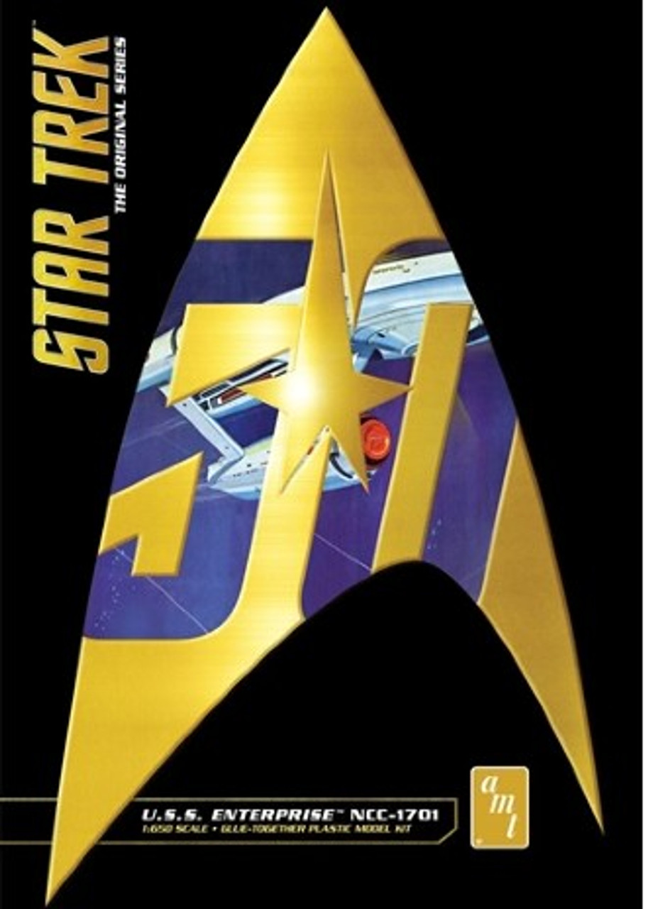 AMT-947  1/650 Star Trek Classic USS Enterprise (50th Anniversary Edition)