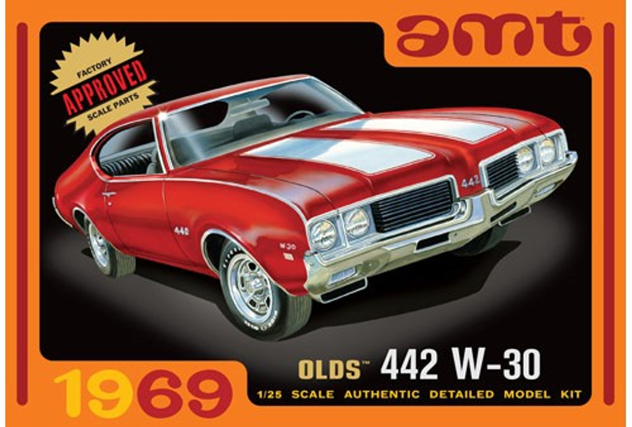 AMT-1105  1/25 1969 Olds W30 442 Car