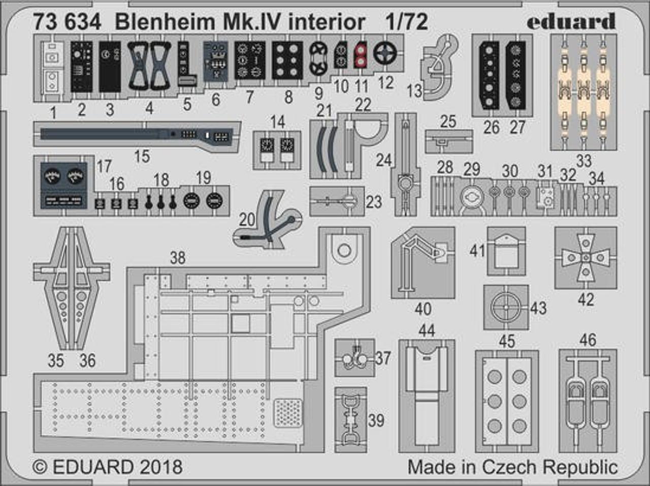 1/72 Aircraft- Blenheim Mk IV Interior for ARX (Painted)