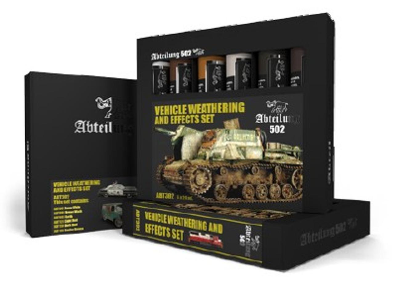 Vehicle Weathering & Effect Oil Paint Set  (6 Colors) 20ml Tubes