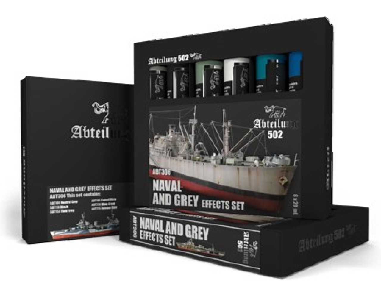 Naval & Grey Effects Weathering Oil Paint Set (6 Colors) 20ml Tubes