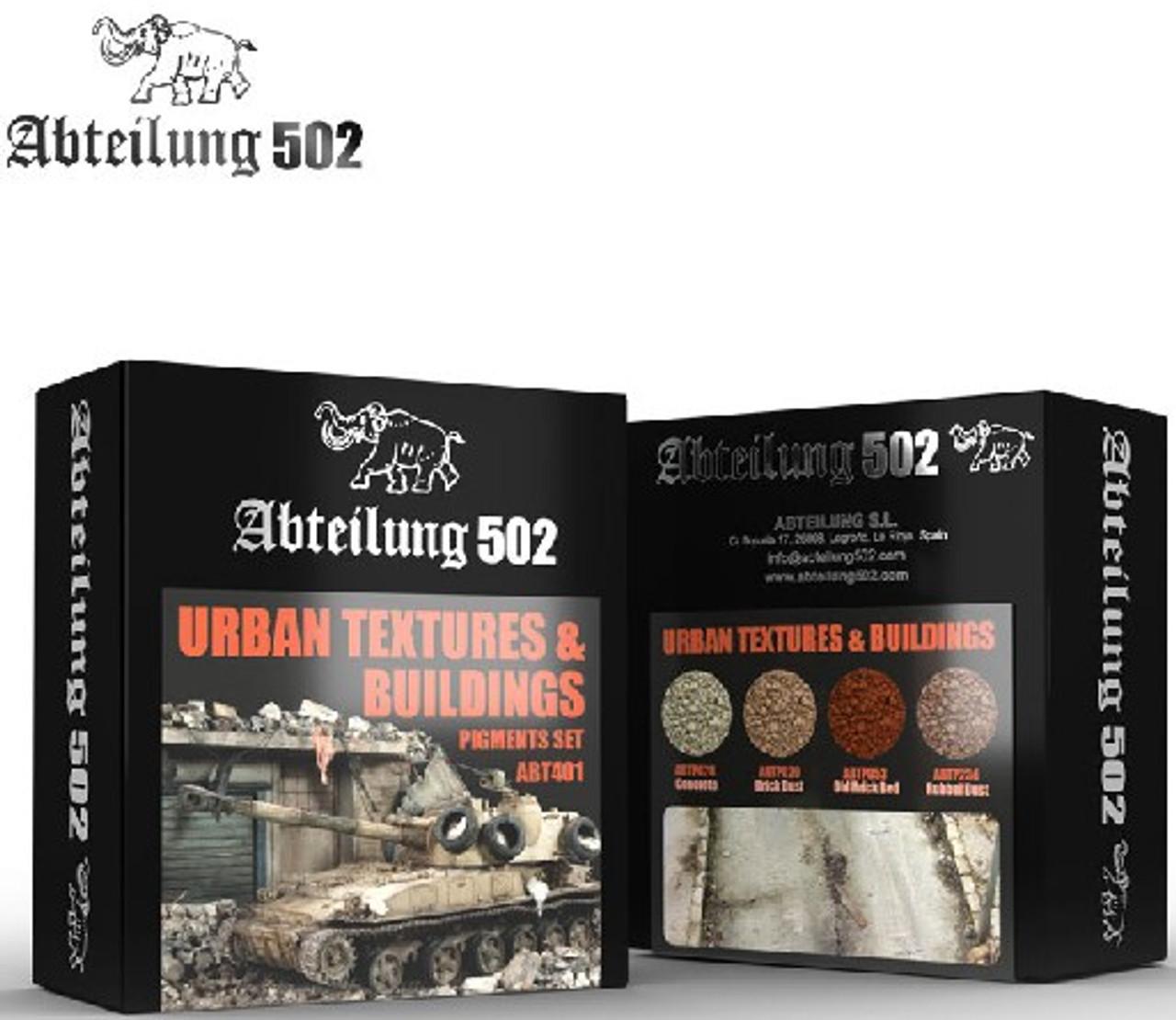 Urban Textures & Buildings Pigment Set (4 Colors) 20ml Bottles