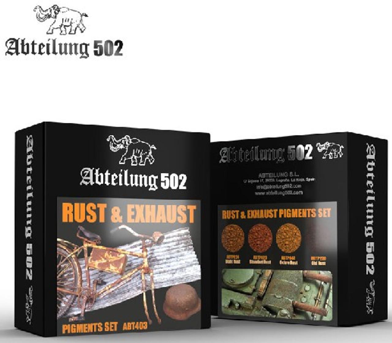 Rust & Exhaust Pigment Set (4 Colors) 20ml Bottles