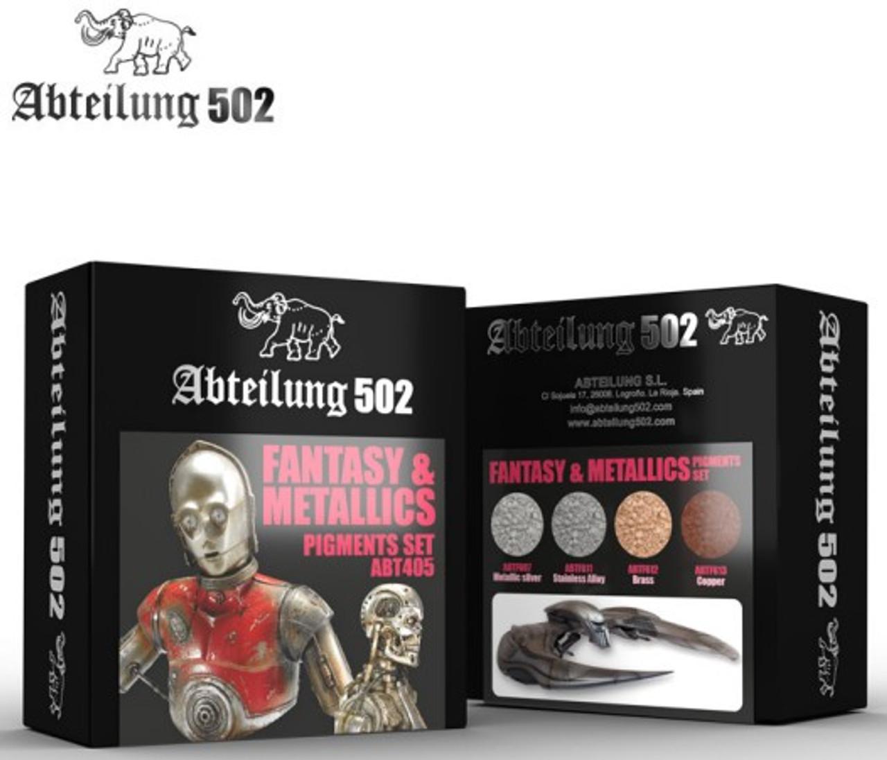 Fantasy & Metallics Pigment Set (4 Colors) 20ml Bottles