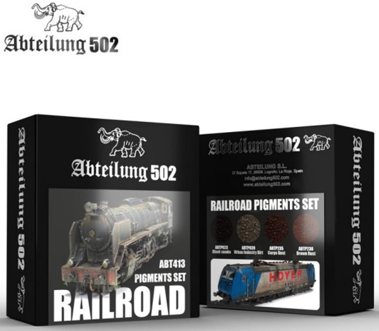 Railroad Pigment Set (4 Colors) 20ml Bottles