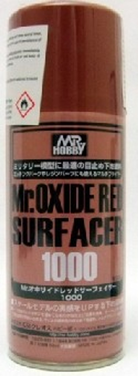 Mr. Oxide Red (Rust) Surfacer 1000 170ml (Spray)