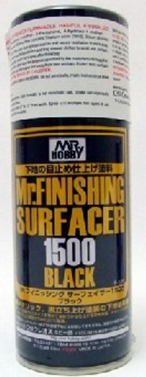 Mr. Finishing Surfacer 1500 Black 170ml (Spray)
