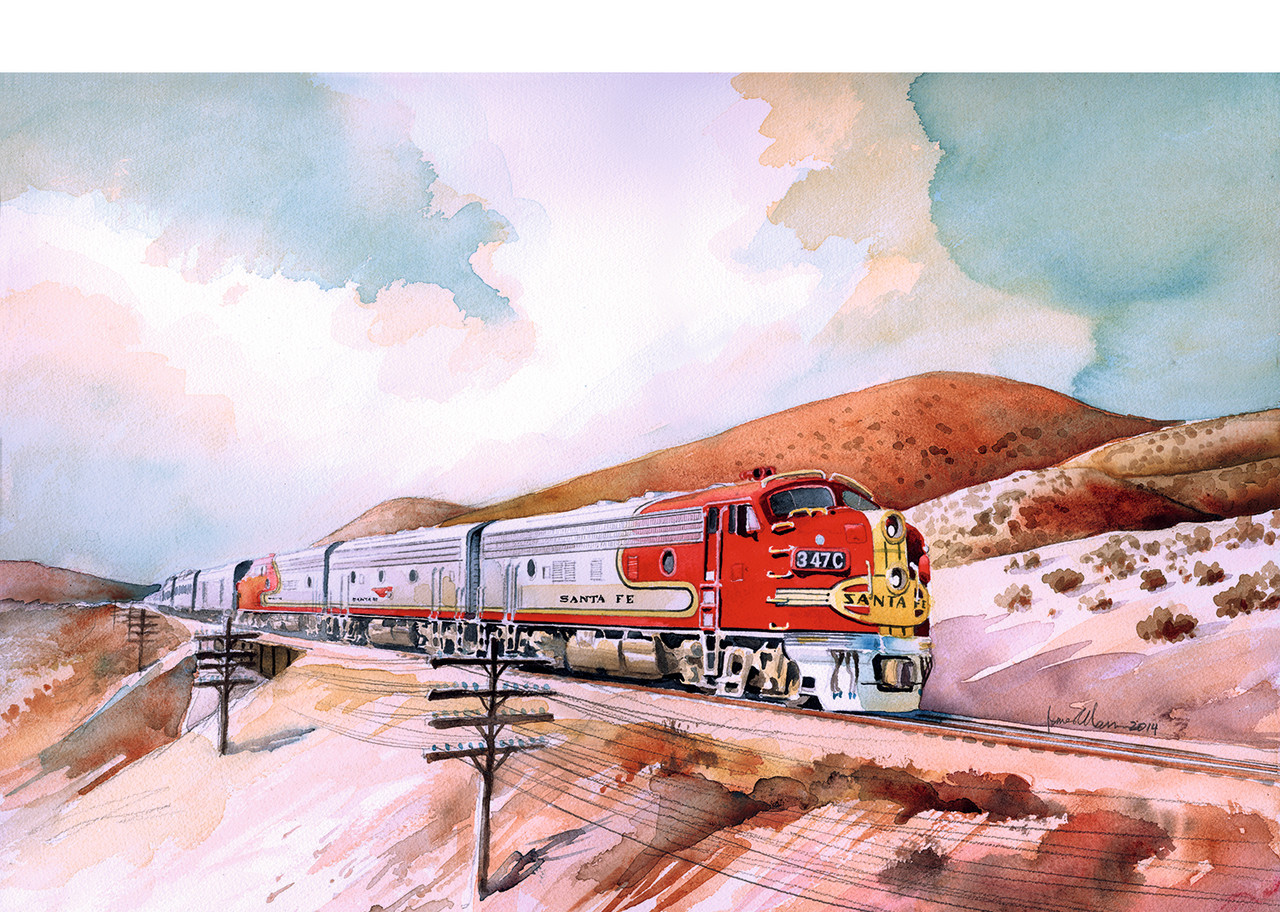 2020 LGB 20581 Dgtl Santa Fe Diesel Locomotive F7A