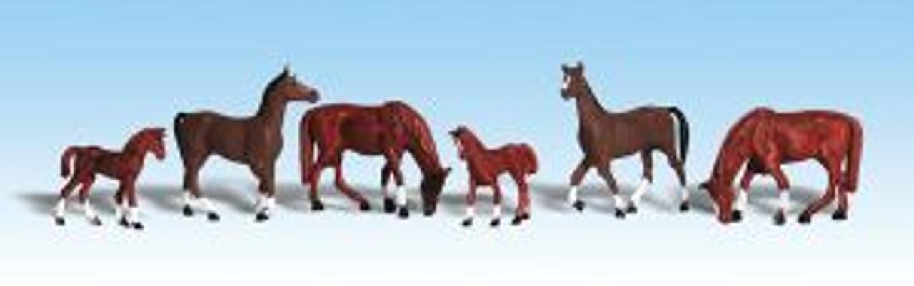A1842 Chestnut Horses HO