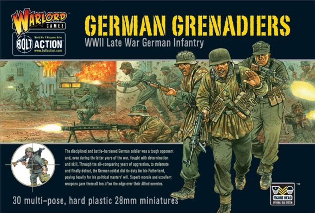 28mm Bolt Action: WWII Late War German Grenadiers (30) (Plastic)