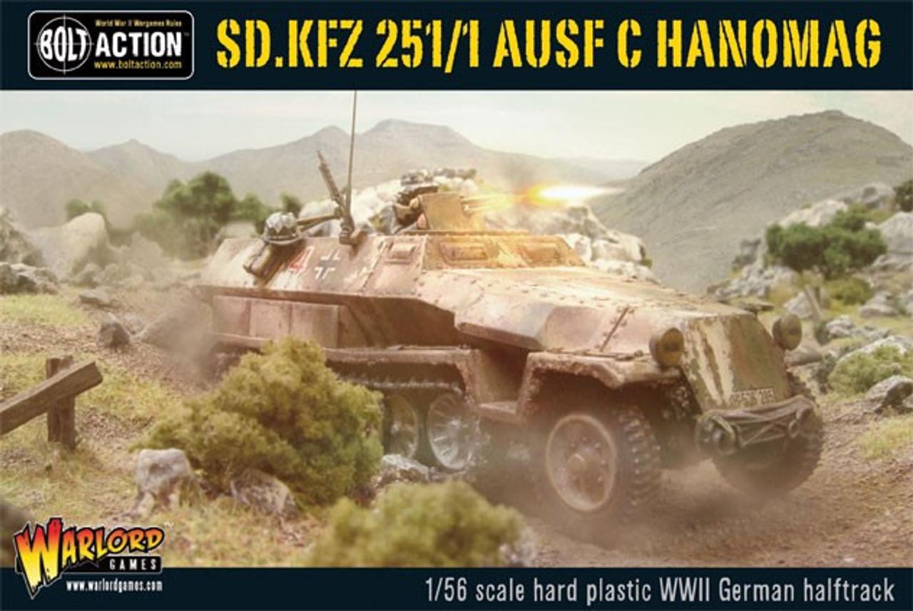 28mm Bolt Action: WWII SdKfz 251/1 Ausf C Hanomag German Halftrack (Plastic)