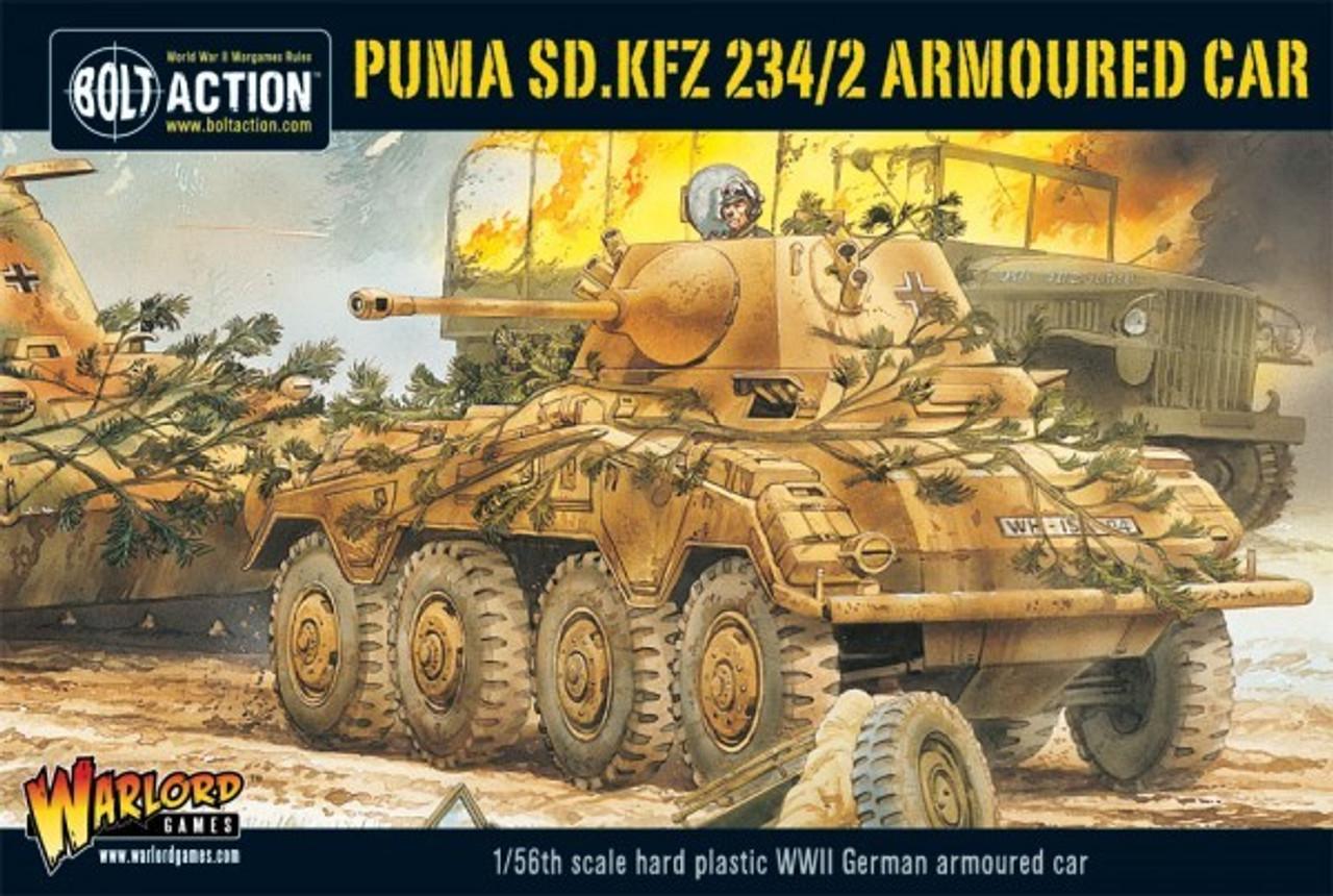 28mm Bolt Action: WWII Puma SdKfz 234/2 German Armored Car (Plastic)