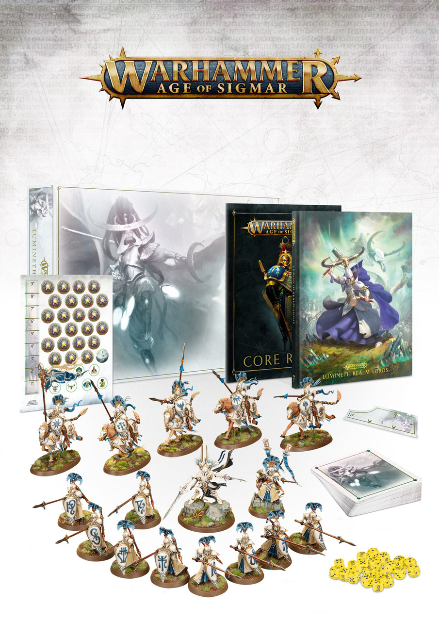 Lumineth Realm Lords Army Set with Book and Accessories
