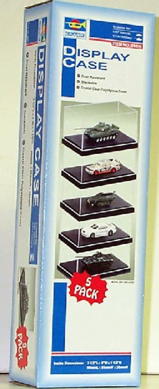 "Showcase for 1/87 Autos & 1/144 Military (3.5""L x 2""W x 1.5""H) Black Base (5 per"