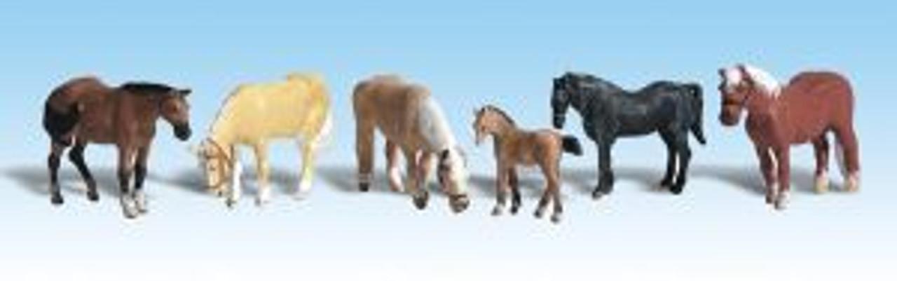 A1862 Farm Horses HO
