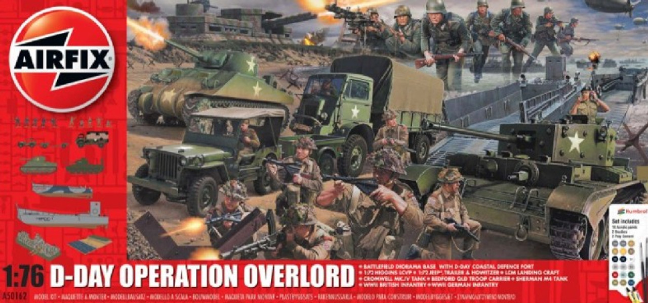 ARX-50162  1/72 D-Day Operation Overlord Gift Set w/paint & glue