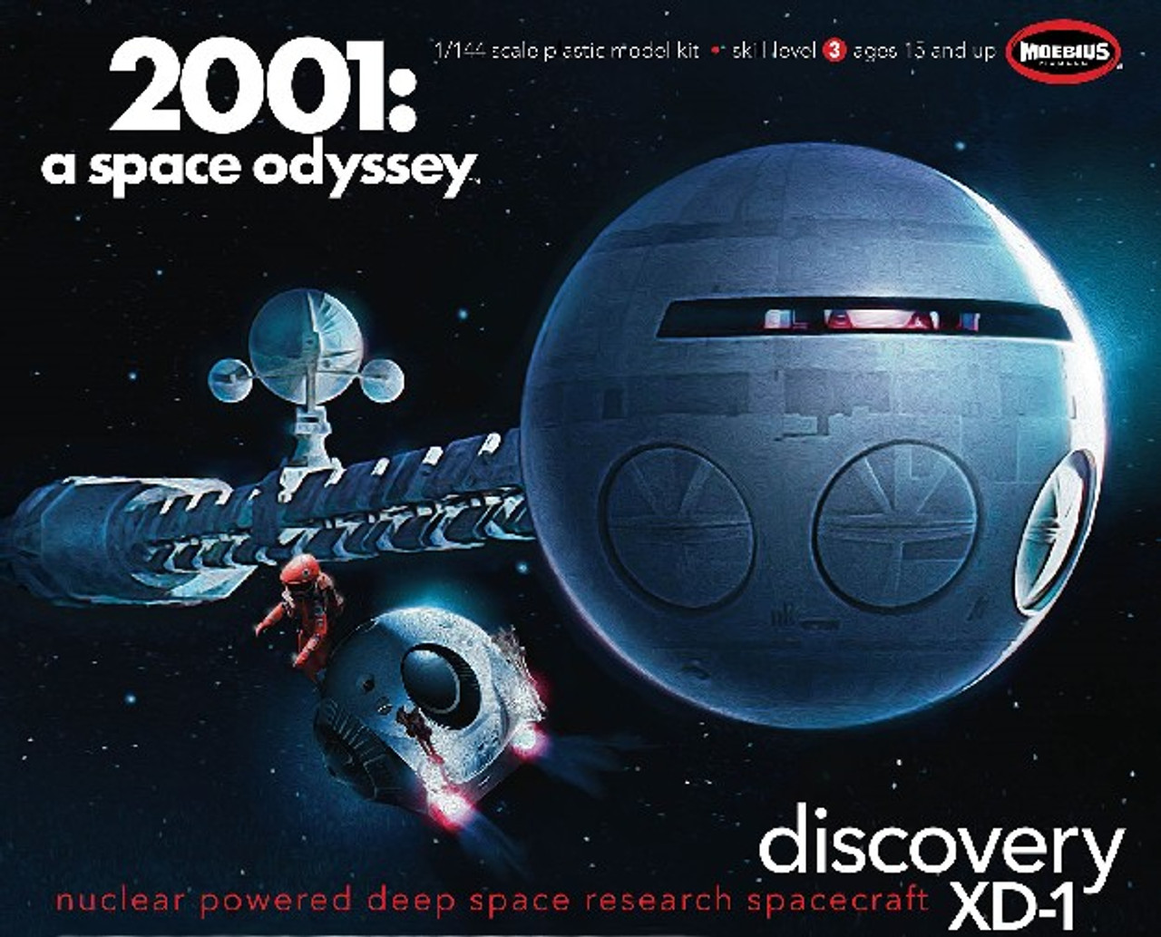 MOE-20013  1/144 2001 Space Odyssey: Discovery XD1 Nuclear Powered Deep Space Re