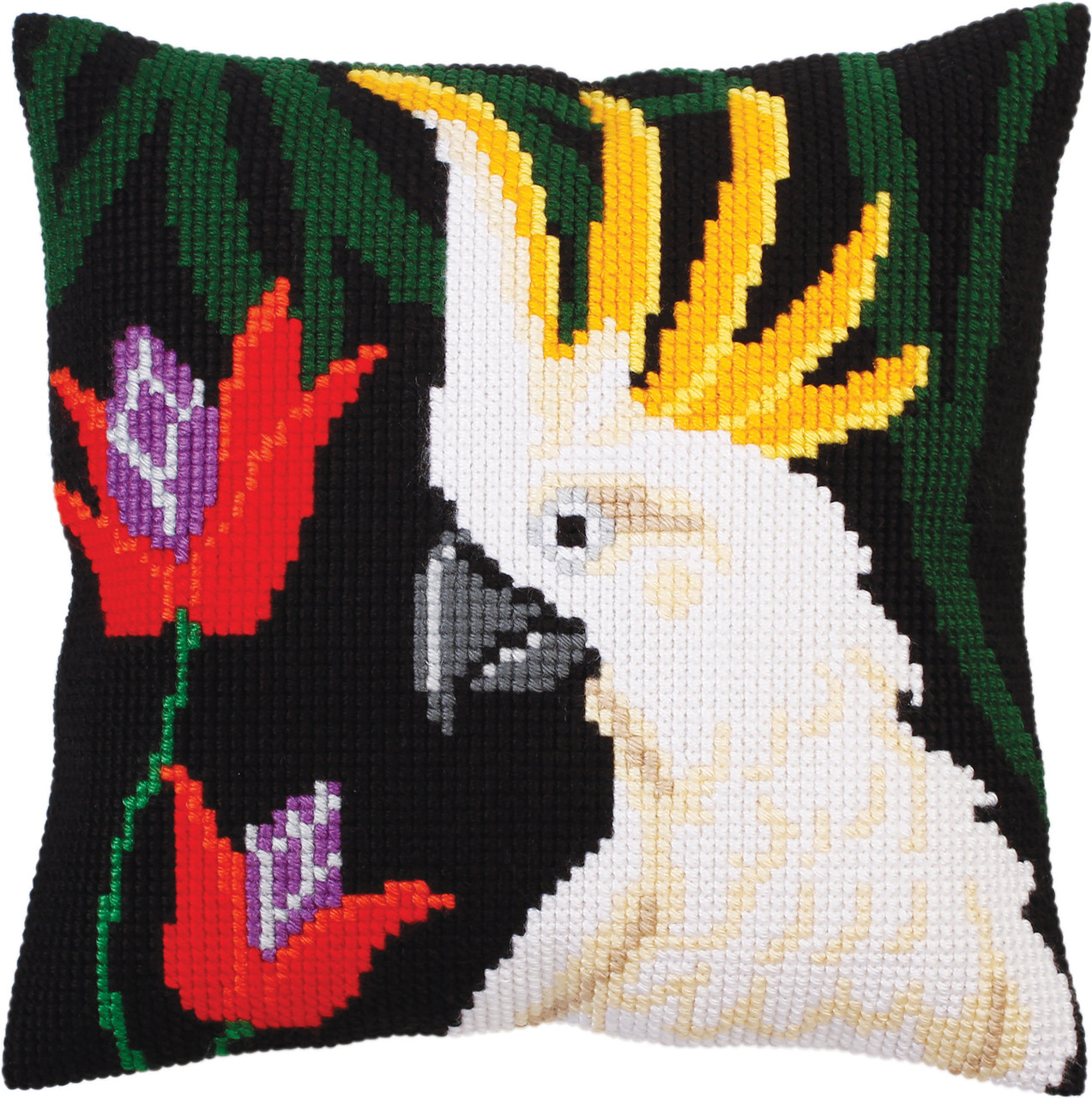 CD5299  Collection D'Art Stamped Needlepoint Cushion Kit 40X40cm-Night Jungle I