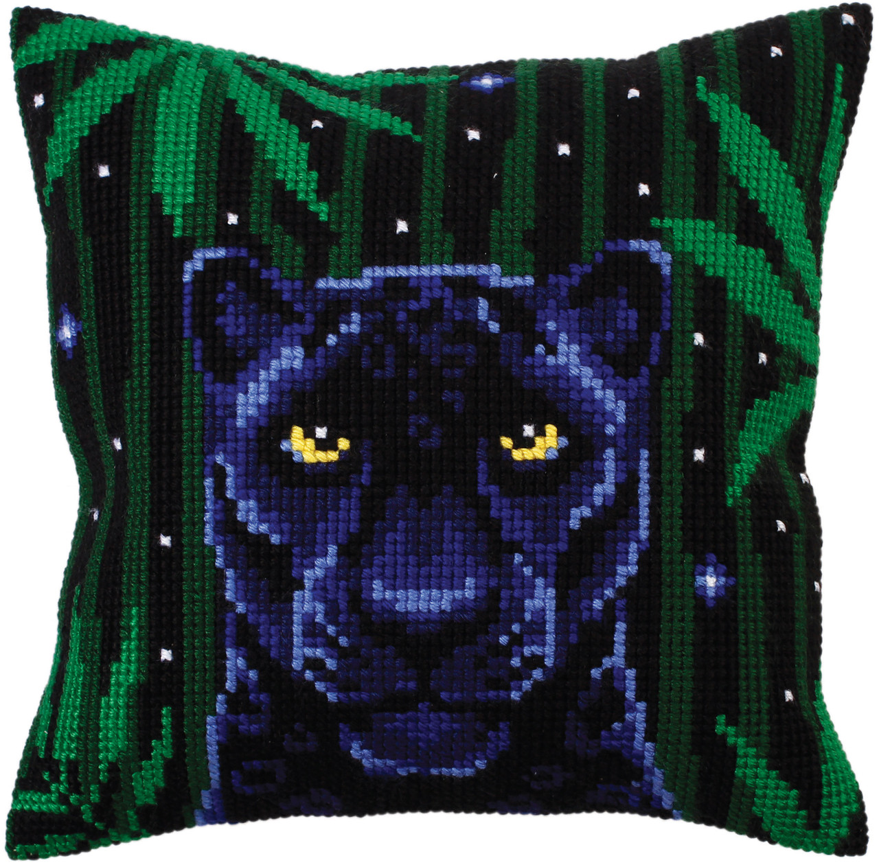 CD5301  Collection D'Art Stamped Needlepoint Cushion Kit 40X40cm-Night Jungle III