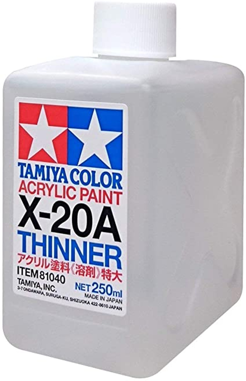 81040 Acrylic/Poly Thinner X20A 250ml 8.5 oz