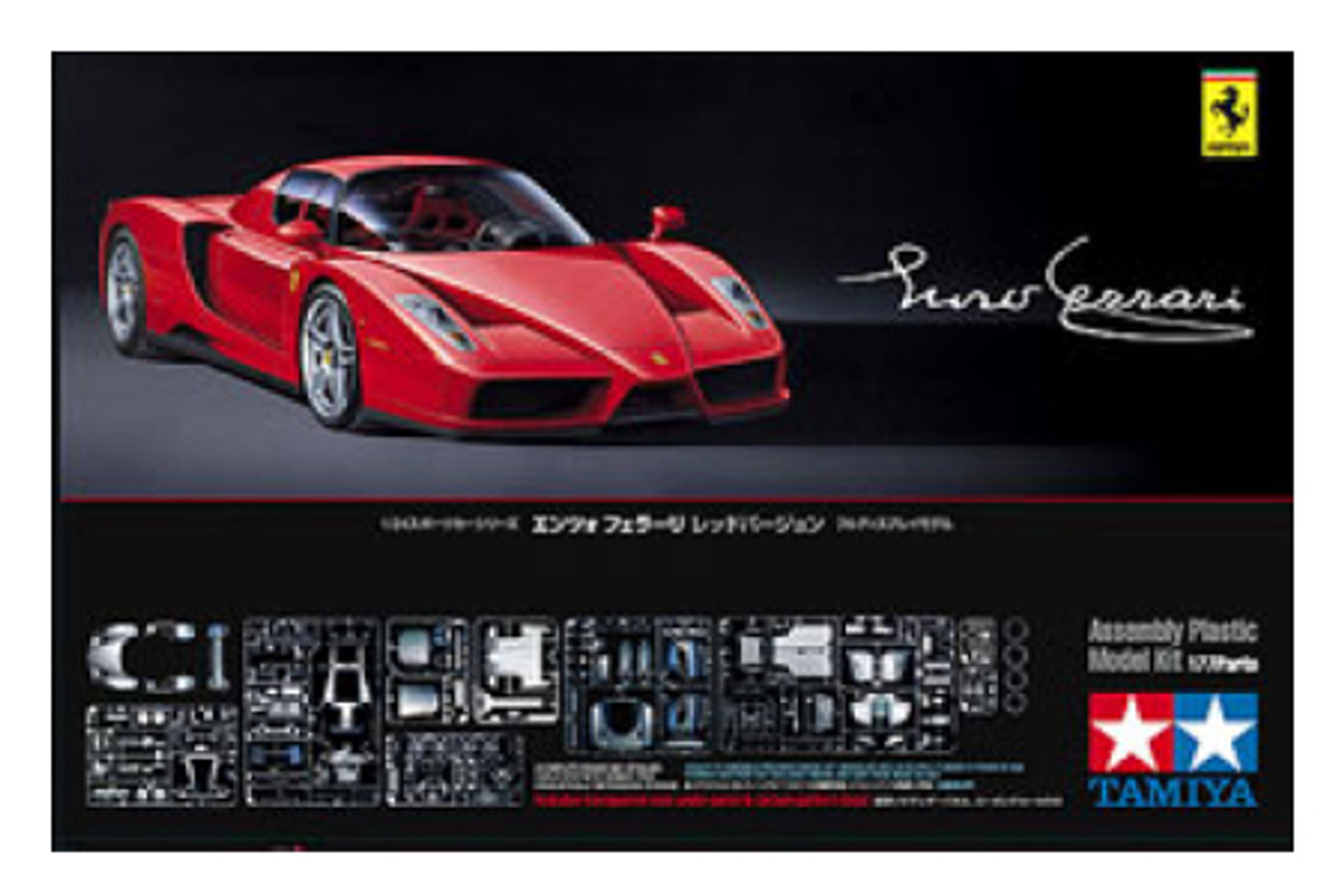 1/24 Enzo Ferrari Car w/Carbon Pattern Decals (Molded in Red)