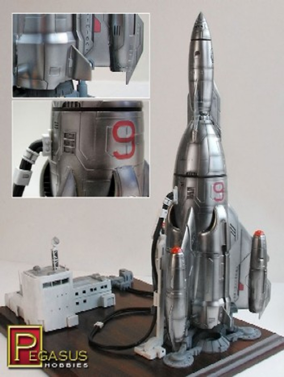 "PGH-9103  1/350 Mercury 9 Rocketship (13-1/2"" Tall)"