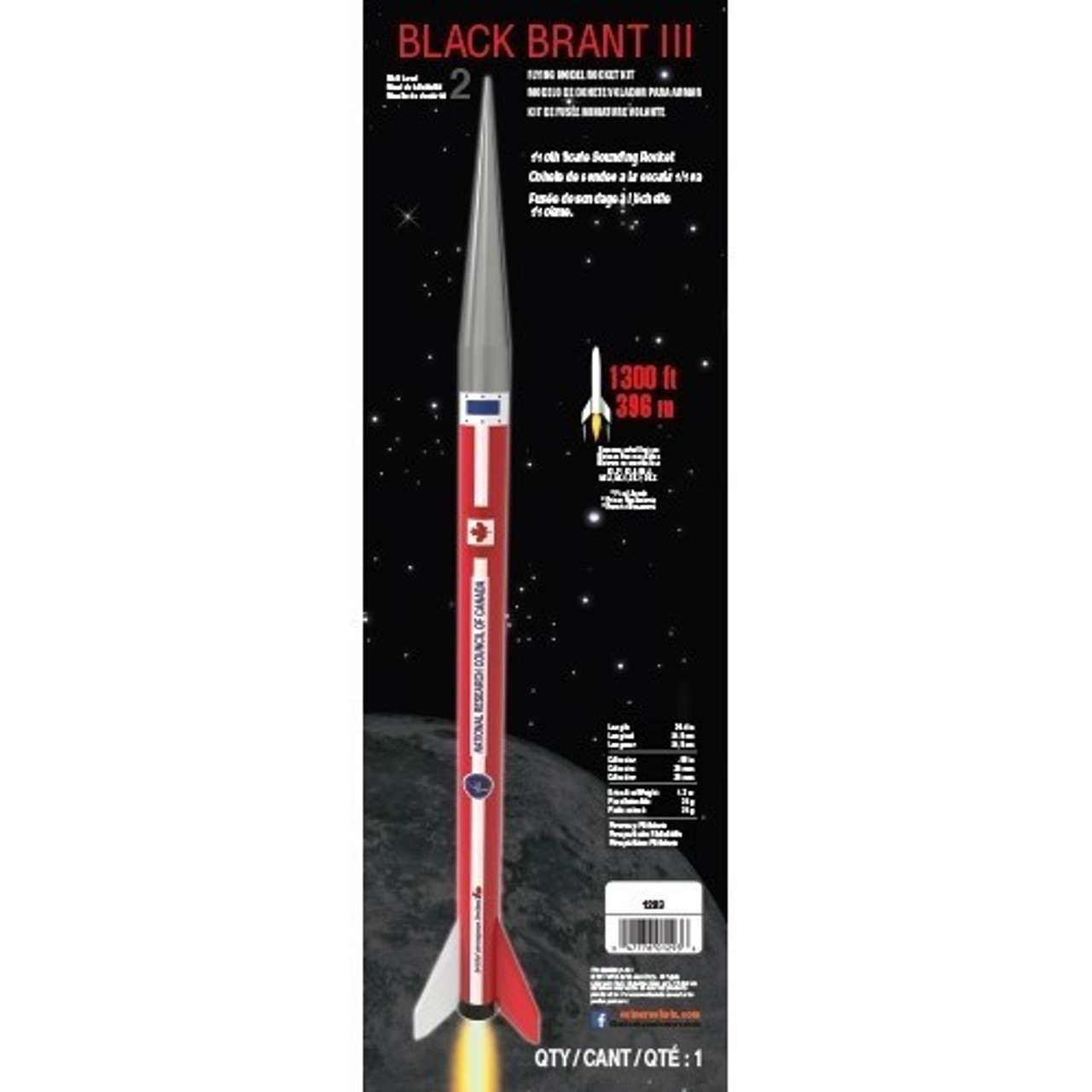 EST-1293  Black Brant III Model Rocket Kit (Skill Level 1)