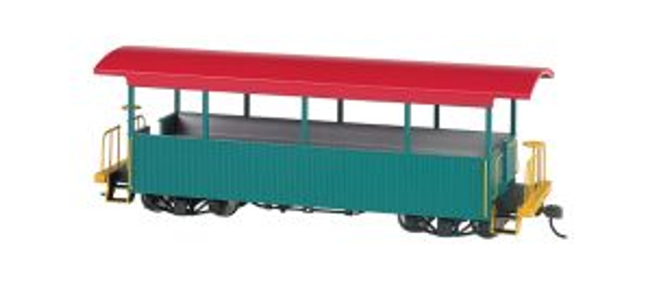 BAC26001  On30 Spectrum Excursion Car, Green/Red Roof