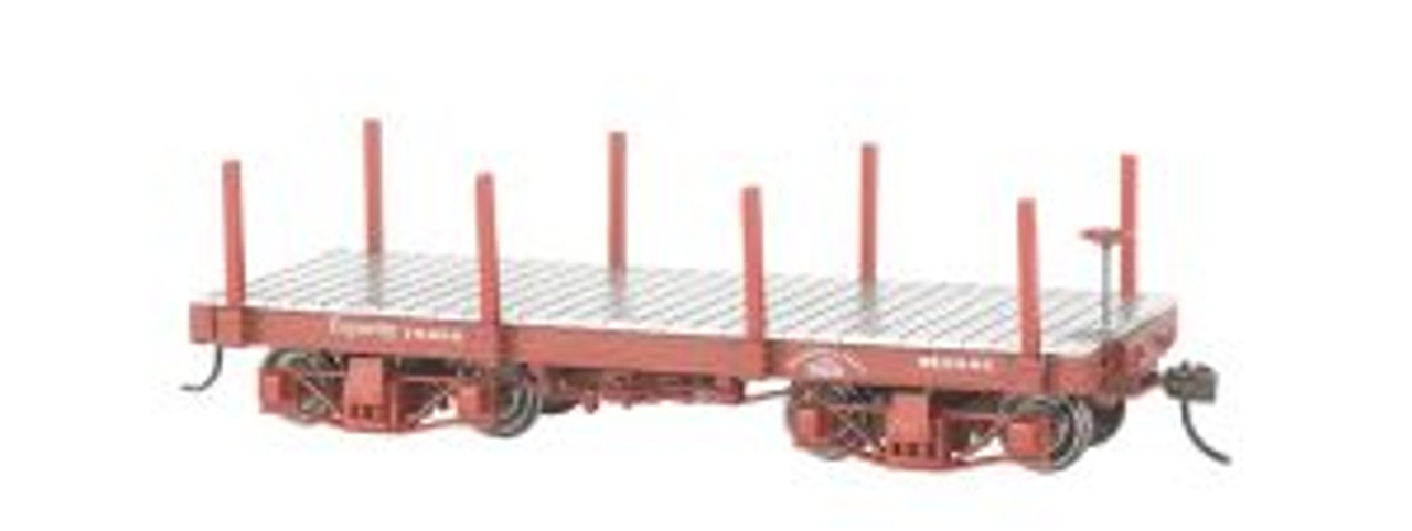BAC26511  On30 Spectrum 18' Flat, Undecorated/Red (2)