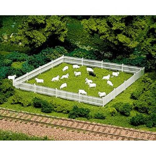 "ATL776  HO Picket Fence & Gate, 72"""""