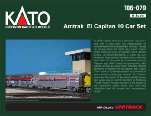 KAT106079  N Passenger Car Set Amtrak/El Capitan (10)