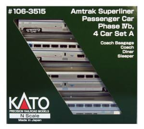 KAT1063515  N Superliner Set AMTK/PhlVb A (4)