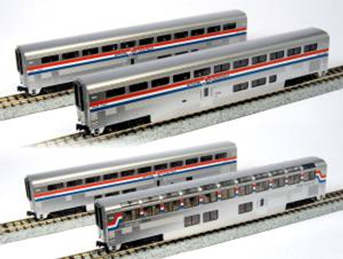 KAT1063518  N Amtrak PhIII Superliner Set B/4pk