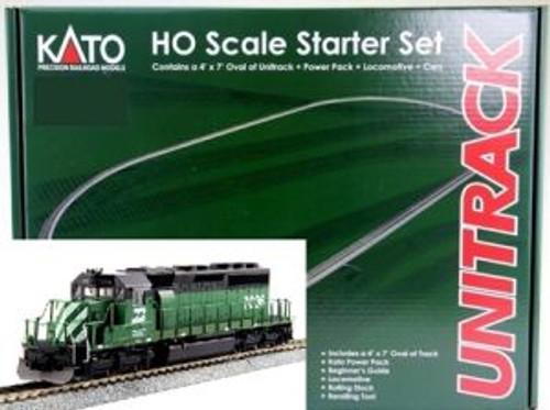 KAT302012  HO Unitrack Starter Set - SD40-2 Mid BN w/MAXI-IV