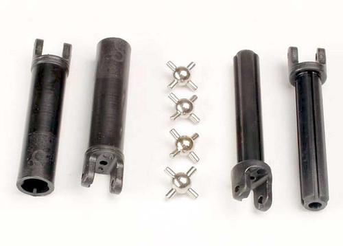 Half shafts, long truck (external-splined (2) & internal-splined (2)/ metal U-joints (4)